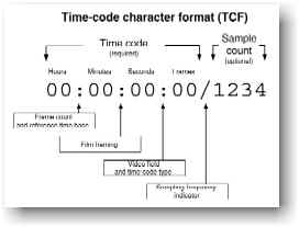 AES31 Timecode Character Format